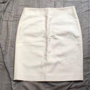 J. CREW Cream Pencil-Skirt
